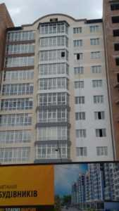 Фасадные работы секции №3, №1 и №5.